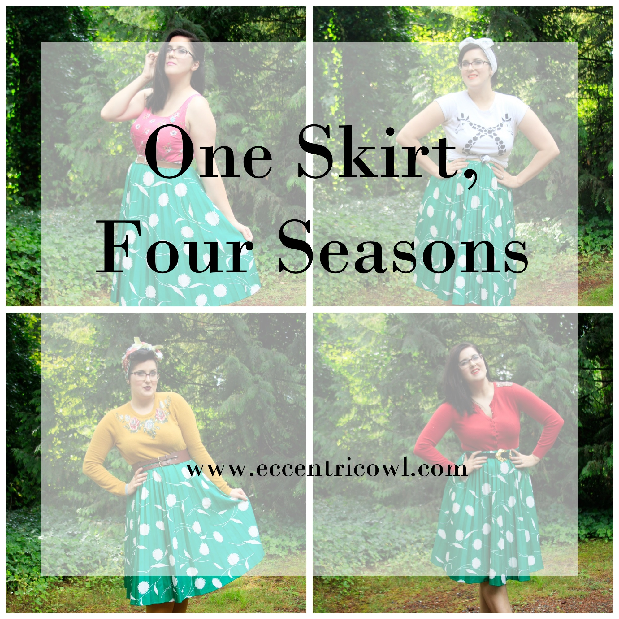 The Eccentric Owl Presents: One skirt, four seasons