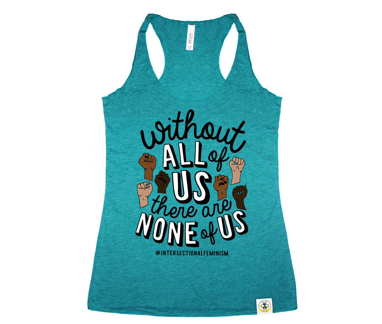 All or None (Women\'s Tank)- Teal   Wire and Honey