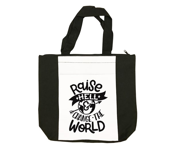 Raise Hell Tote Bag (Black/White)