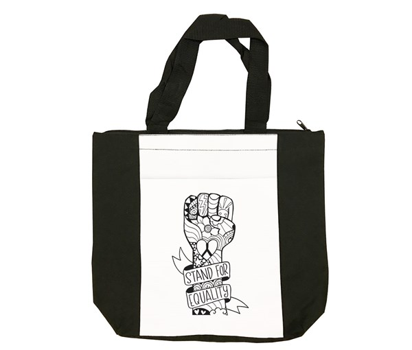 Equality Fist Tote Bag (Black/White)