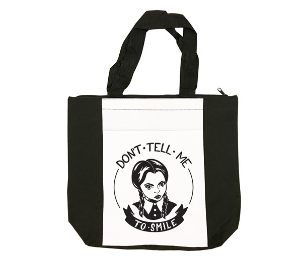 Don't Tell Me to Smile Tote Bag (Black/White)