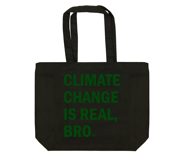Climate Change Tote Bag (Black/Green)