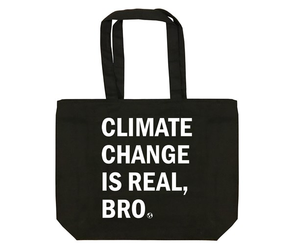 Climate Change Tote Bag (Black/White)
