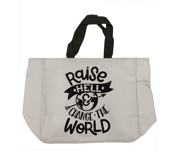 Raise Hell Tote Bag (Grey)