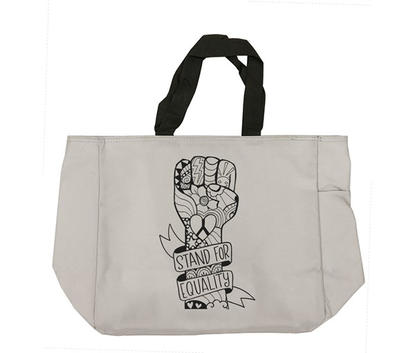 Equality Fist Tote Bag (Grey)