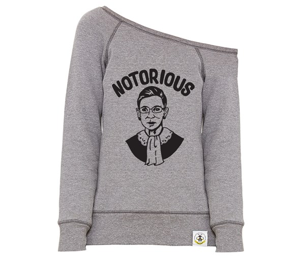 Notorious Women's Wide Neck Sweatshirt (Grey)
