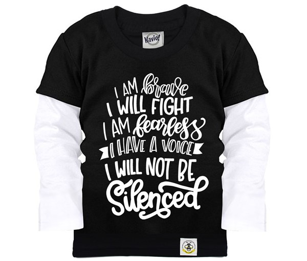 Not Silenced Layered Tee (Black)