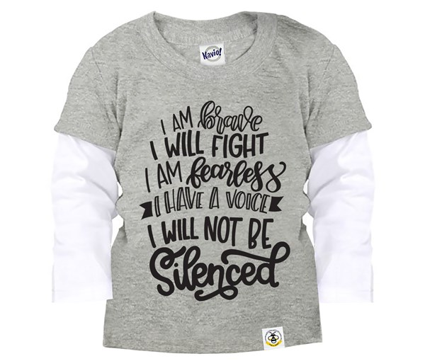 Not Silenced Layered Tee (Grey)