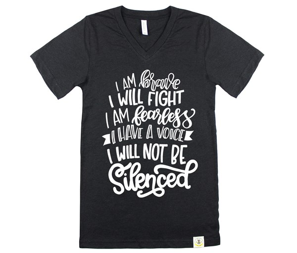 Not Silenced Adult Unisex (Heather Black)