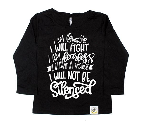 Not Silenced Hooded Tee (Black)