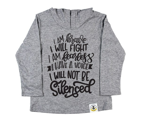 Not Silenced Hooded Tee (Grey)