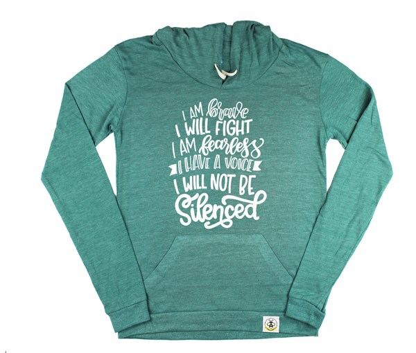 Not Silenced Women's Hoodie (Green)