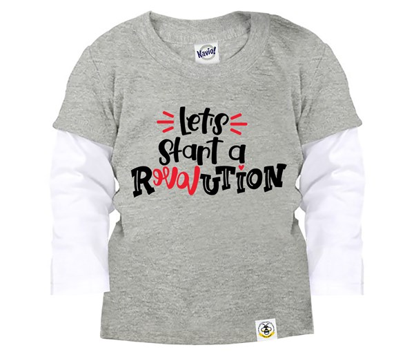 Revolution Layered Tee (Grey)