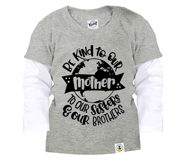 Love Your Mother Layered Tee (Grey)