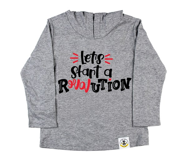 Revolution Hooded Tee (Grey)