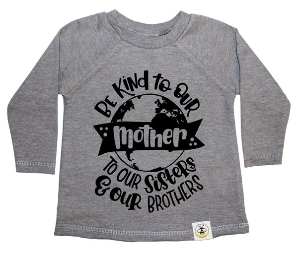 Love Your Mother French Terry Long Sleeve (Grey)