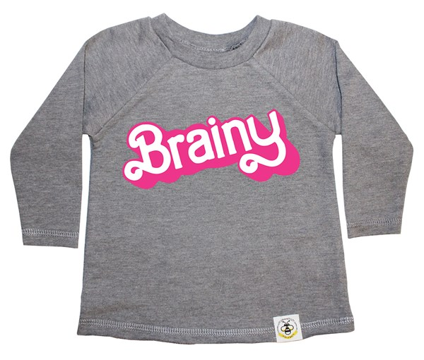 Brainy French Terry Long Sleeve (Grey)