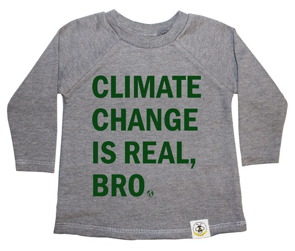 Climate Change French Terry Long Sleeve (Grey, Green)