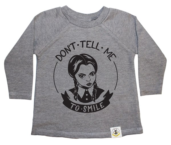 Don't Tell Me French Terry Long Sleeve (Grey)