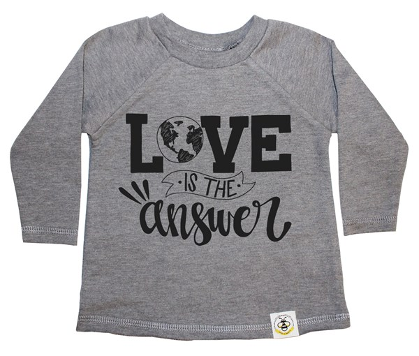 Love is the Answer French Terry Long Sleeve (Grey)