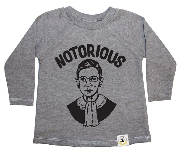 Notorious RBG French Terry Long Sleeve (Grey)