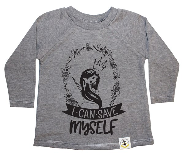Save Myself (Long Hair) French Terry Long Sleeve (Grey)