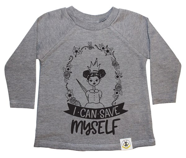 Save Myself (Puffs) French Terry Long Sleeve (Grey)