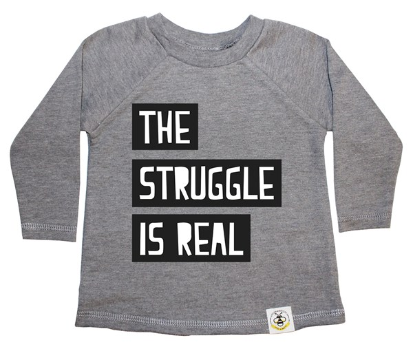 The Struggle French Terry Long Sleeve (Grey)