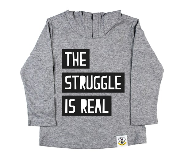 The Struggle Hooded Tee (Grey)