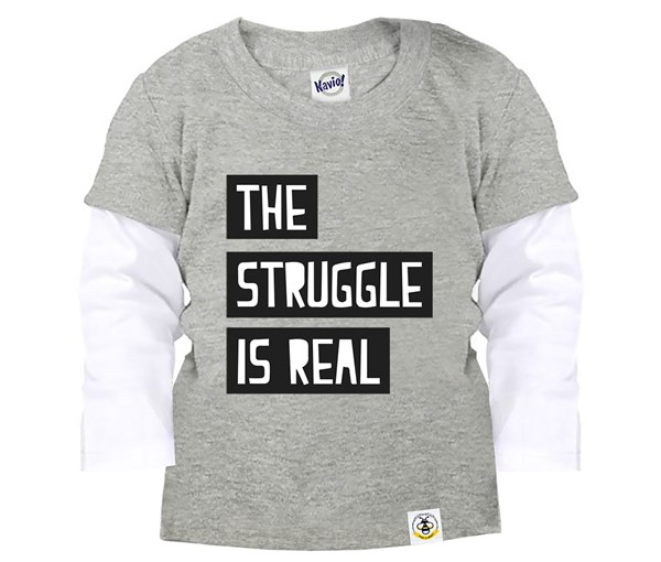 The Struggle Layered Tee (Grey)