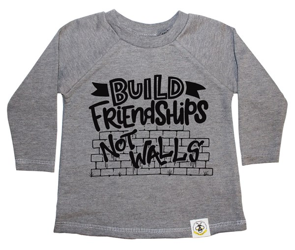Build Friendships French Terry Long Sleeve (Grey)