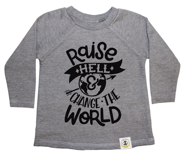 Raise Hell French Terry Long Sleeve (Grey)