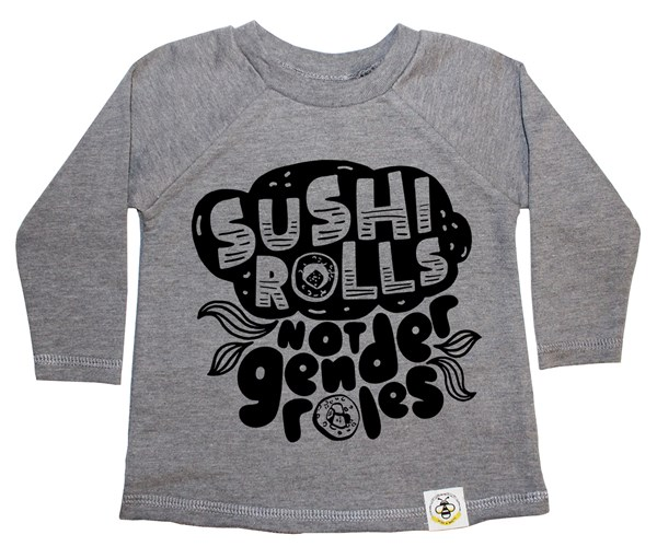 Sushi Rolls French Terry Long Sleeve (Grey)