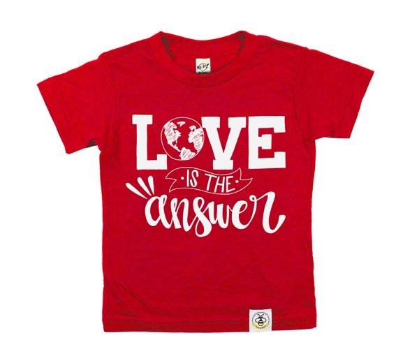 Love is the Answer (Heather Red, White)