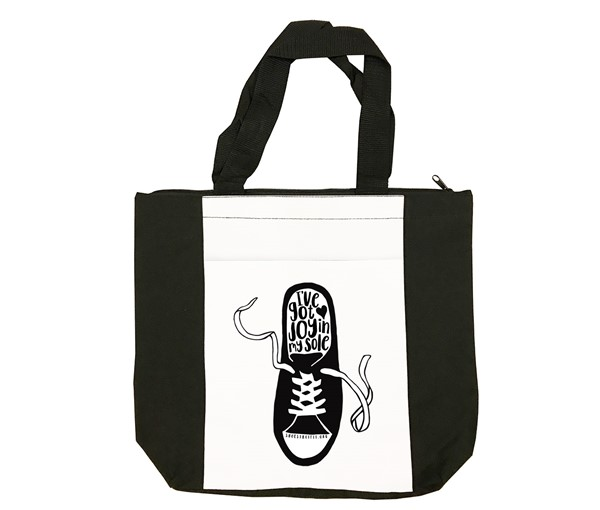 Shoes That Fit Tote Bag (Black, White)
