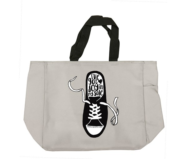 Shoes That Fit Tote Bag (Grey)