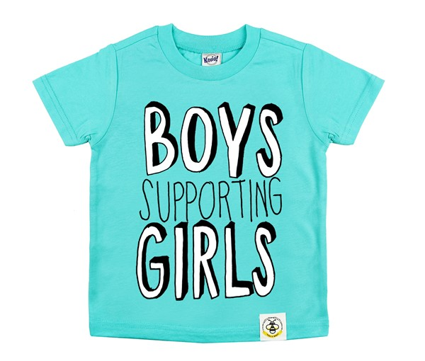 Boys Supporting Girls (Caribbean Blue)