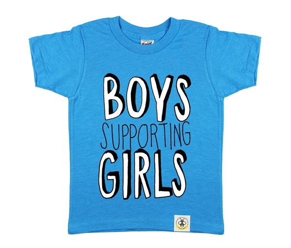 Boys Supporting Girls (Island Blue)