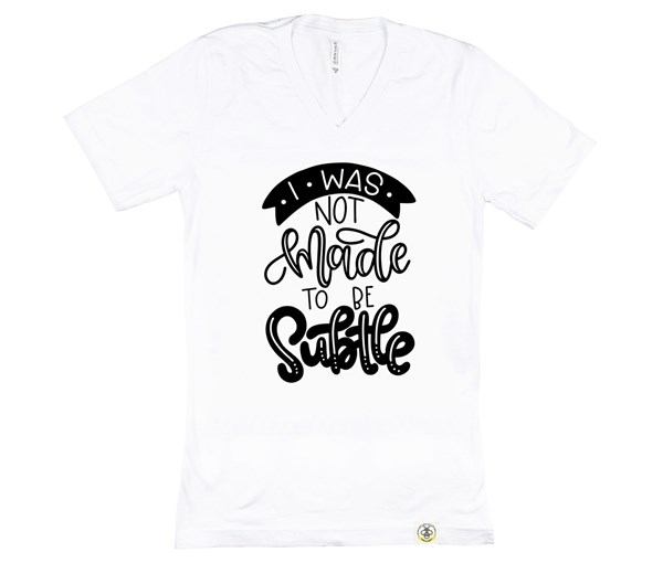 Not Subtle (Unisex, White)