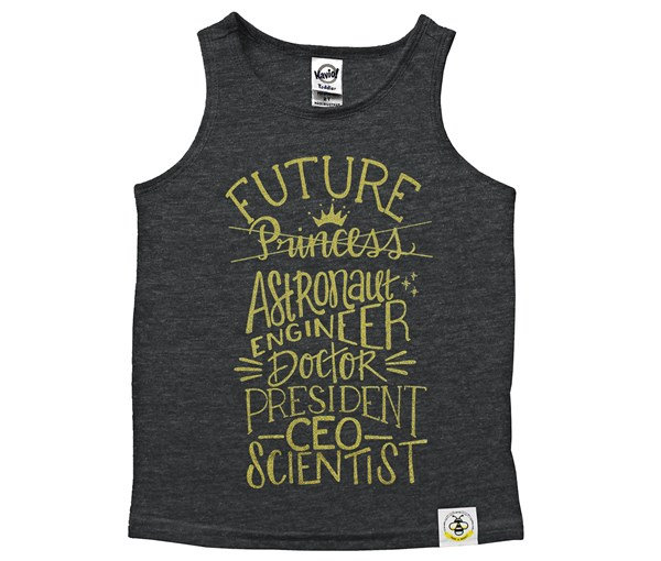 Future Scoop Neck Tank (Charcoal)