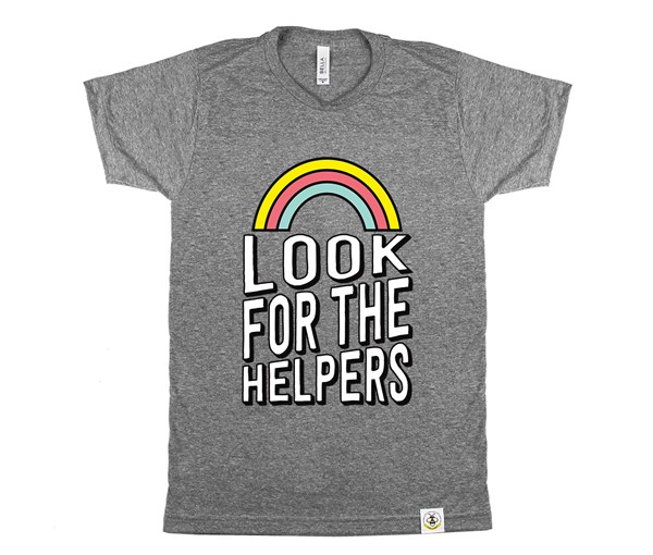 Look for the Helpers Adult (Grey)