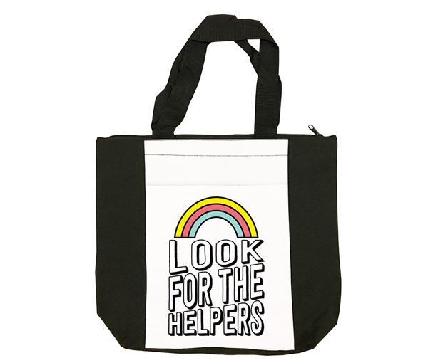 Look for the Helpers Tote Bag (Black/White)