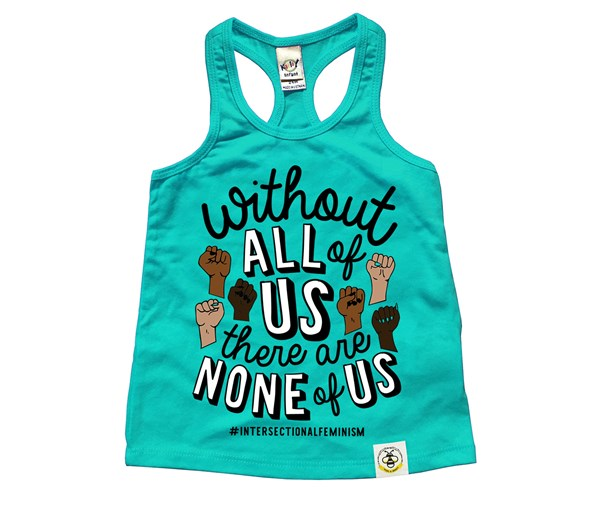 All or None Racerback Tank (Caribbean Blue)