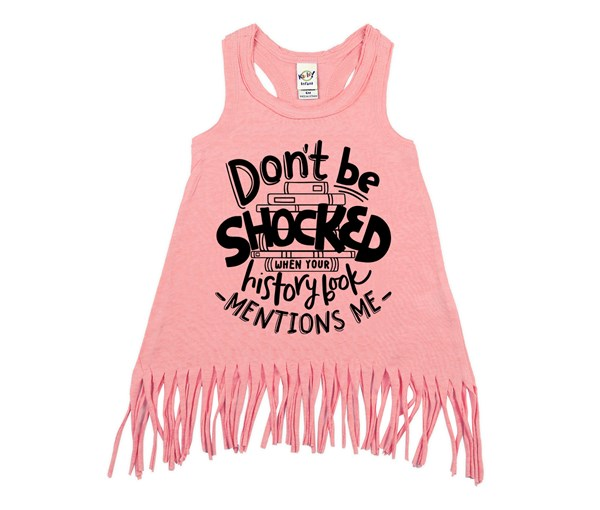 Don't Be Shocked Fringe Dress (Flamingo)