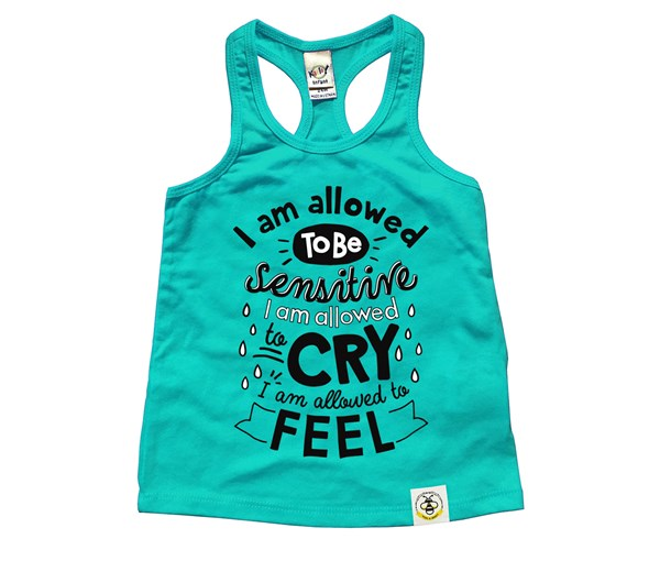 I'm Allowed Racerback Tank (Caribbean Blue)
