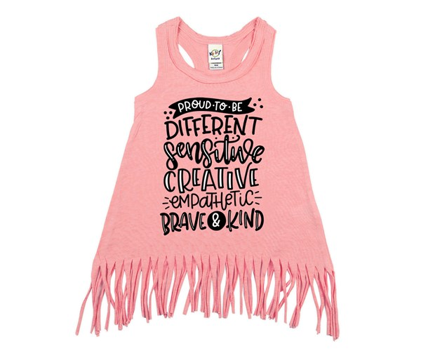 Proud to Be Fringe Dress (Flamingo)