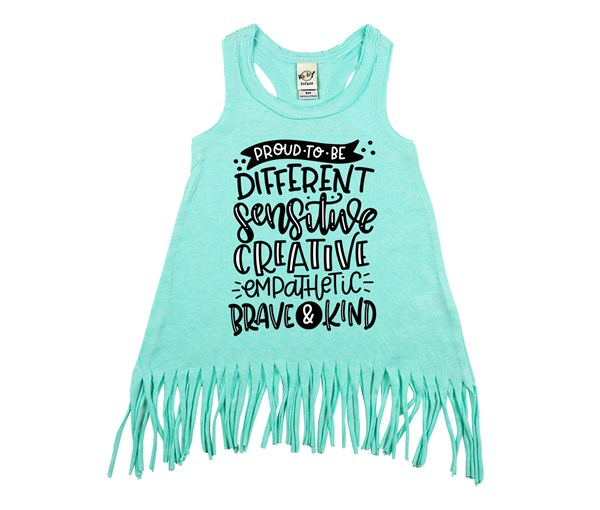 Proud to Be Fringe Dress (Mint)