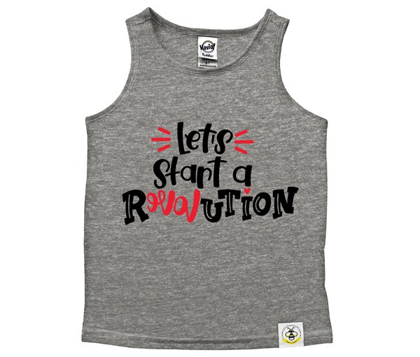 Revolution Scoop Neck Tank (Grey)