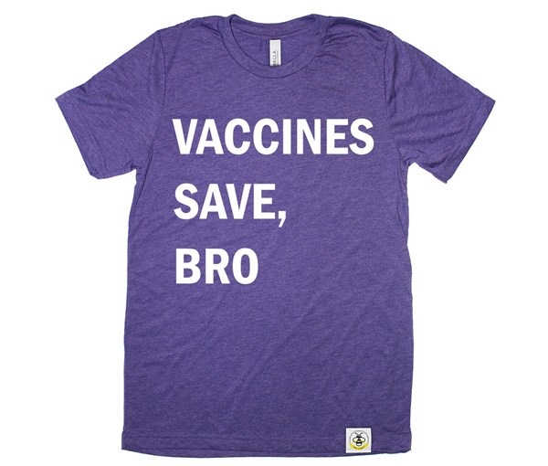 Vaccines Save, Bro Adult (Purple)