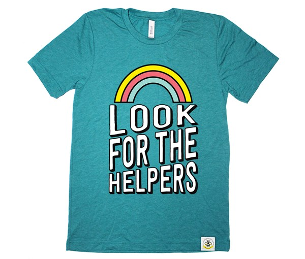 Look for the Helpers  Adult (Teal)